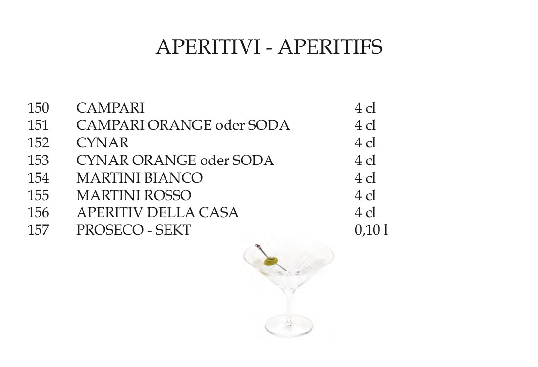 aperitifs